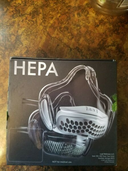 Leaf HEPA Mask with filter. Size small $26.00