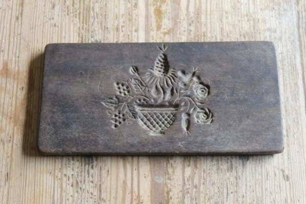 Early Antique Double Sided Wooden Springerle Cookie Food Mold $135.00