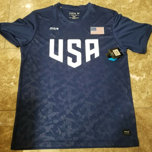 USA Soccer Mitre SUPER AWESOME Football Soccer Jersey