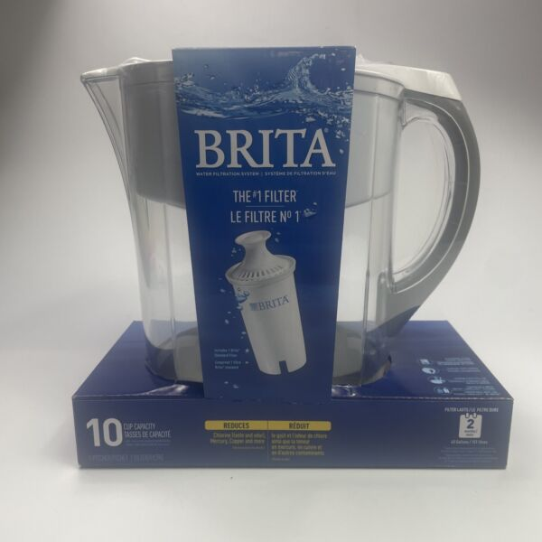 Brita Everyday Water Filter System Pitcher for Home Large 10 Cup