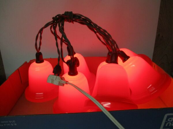 7 Vintage C 9 Christmas Red Bell Lights w Cord Plus 1 Extra $60.00