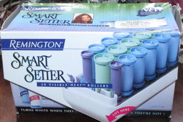 in Box REMINGTON Smart Setter Visible Heat 20 Rubber HOT ROLLERS CURLERS CLIPS $39.95
