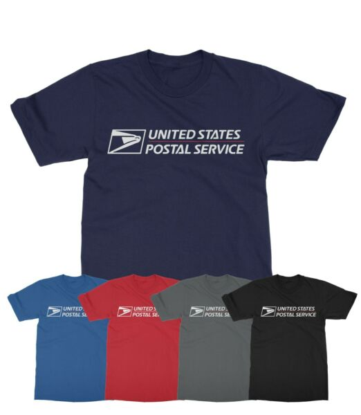 Unisex USPS Postal Service casual Tee post Office mail shirts T Shirt S 2XL $12.99