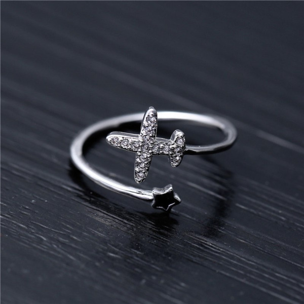 ENGAGEMENT amp; WEDDING EXPENSIVE BYPASS AIRPLANE RING 14K WHITE GOLD 1.1CT DIAMOND $261.83