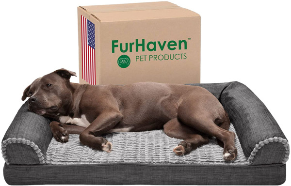 Furhaven Orthopedic Cooling Gel and Memory Foam Pet Beds for Small Medium an $67.99
