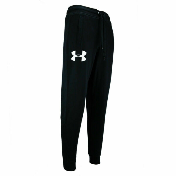 New With Tags Men#x27;s Under Armour Gym Fleece Rival Jogger Logo Pants Sweatpants $34.99