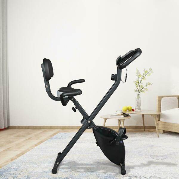 New 8 Speed Exercise Bicycle Indoor Bike Cycling Workout Fitness Black $119.99