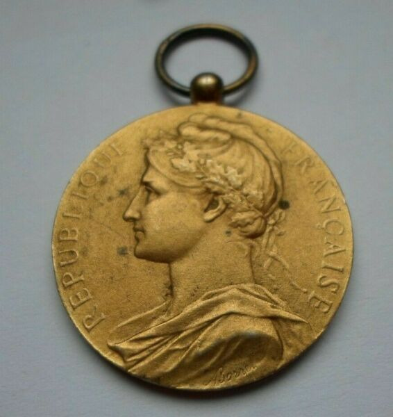 1938 FRANCE GALLIA MARIANNE FRENCH SILVER PENDANT MEDAL