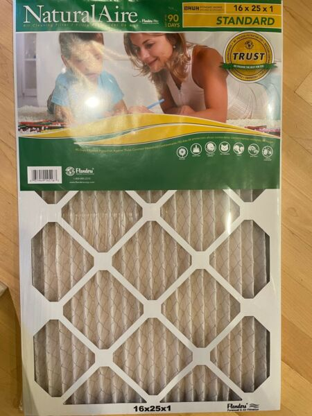 Flanders Natural Aire 16 x 25 x 1 Standard Furnace Filter 1 Pack $10.00