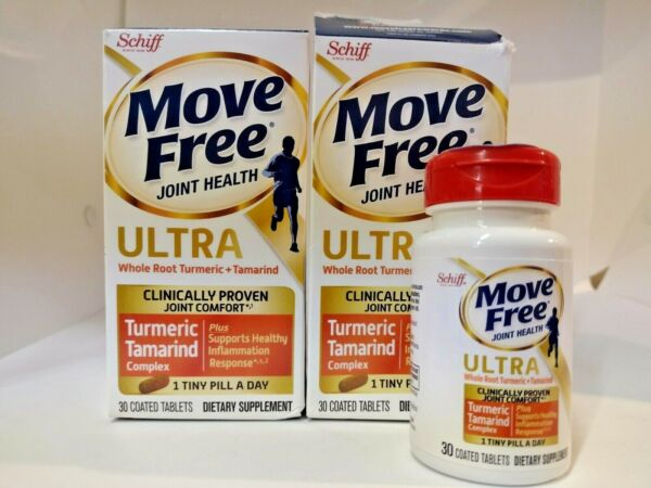 2 Pack Schiff Move Free Joint Health Turmeric amp; Tamarind 30 Tabs Exp 2 22 amp; 6 22 $13.90