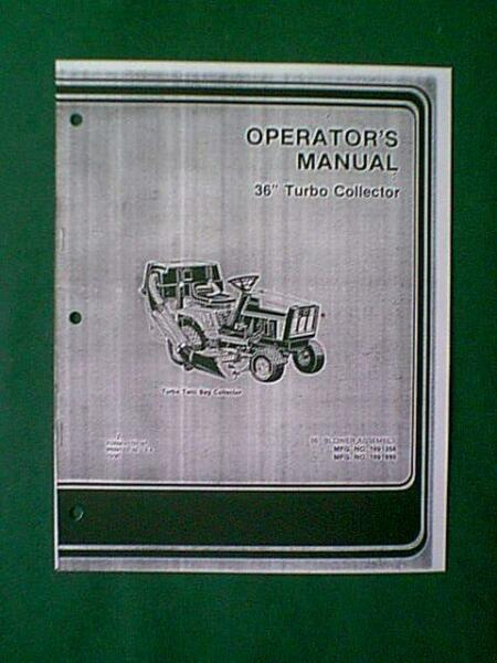 SIMPLICITY TRACTOR 36quot; TURBO COLLECTOR 2 BAGGER MANUAL
