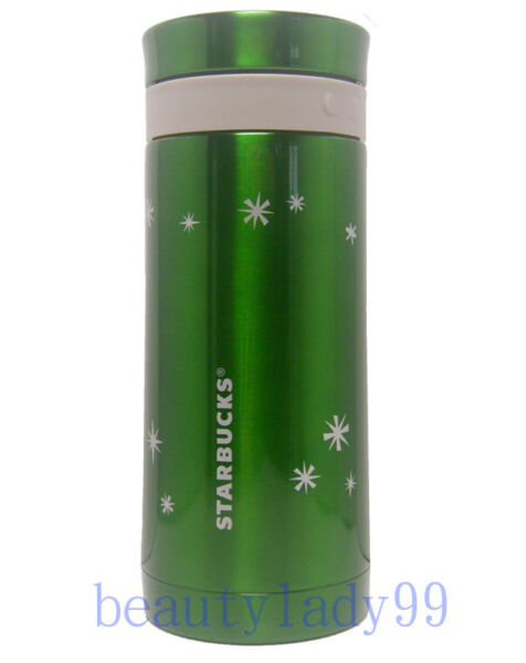 2011 Starbucks Taiwan X'mas snowflake coffee press tumbler 10oz with plunger  GN