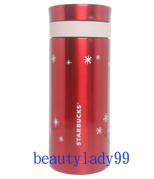 2011 Starbucks Taiwan X'mas snowflake coffee press tumbler 10oz with plunger  RD