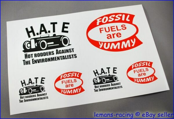 HOT ROD Retro Drag Racing VW Beetle Decals Stickers Vintage H.A.T.E.