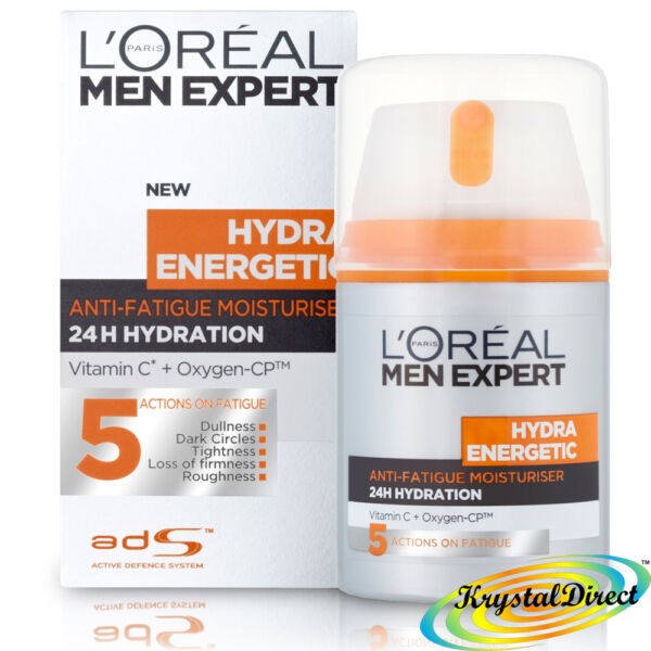 Loreal Men Expert HYDRA ENERGETIC daily anti-fatique Moisturising Lotion 50ml