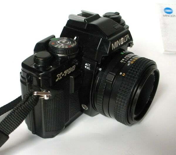Minolta X-700 Manual Film Camera with MD 50mm f1.7 Lens for Photography Students