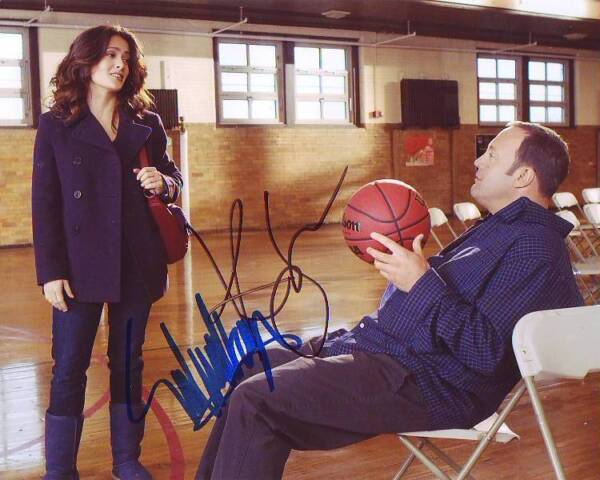 Salma Hayek & Kevin James Signed Autographed 8x10 Here Comes the Boom Photograph