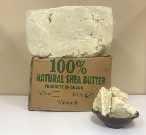RAW AFRICAN SHEA BUTTER Unrefined Organic WhiteIvory Premium Quality 2oz- 50Lbs