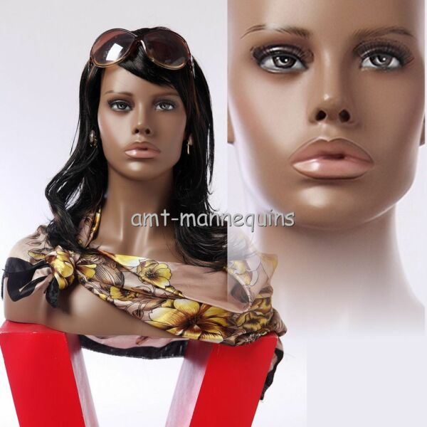 Female mannequin head display wigs hats scarves African head- HFO