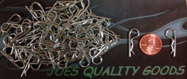100 RC BODY CLIPS CAR TRUCK BUGGY  BODY PINS 110 SCALE