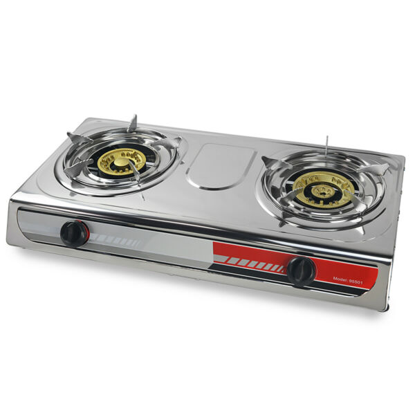 Portable Propane Gas Stove DOUBLE 2 Burner CAMPING TAIL GATE Tailgating Stoves
