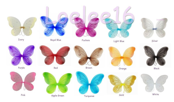 22quot;x15quot; Fairy Wings Butterfly TinkerBell Pixie Dress Up Costume