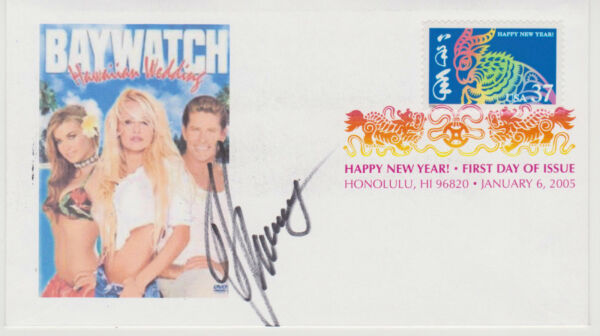 SIGNED DAVID HASSELHOFF FDC AUTOGRAPHED FIRST DAY COVER BAYWATCH