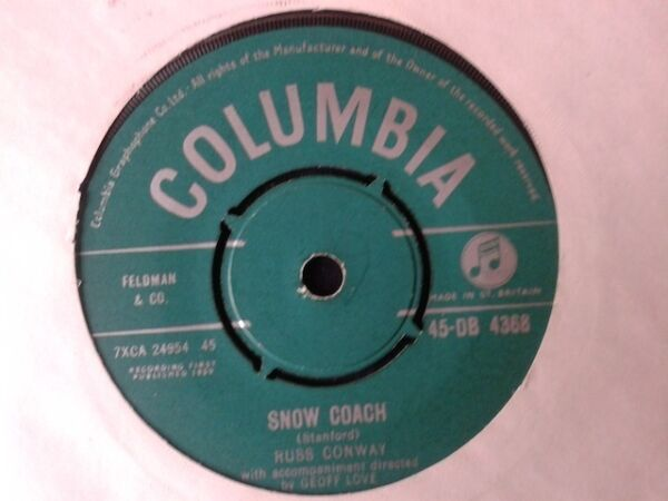 VINYL 7quot; SINGLE SNOW COACH RUSS CONWAY 45DB4368