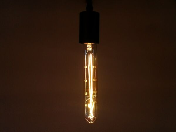 Edison Marconi Retro-Antique T9 Tubular Bulb Gold Tint 7