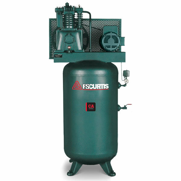 FS-Curtis (CA5) 5-HP 80-Gallon Two-Stage Air Compressor (460V 3-Phase)