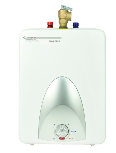 Chronomite CMT-2.5 CMT Series Point of Use Mini Tank Hot Water Heater 2.5 Gallon
