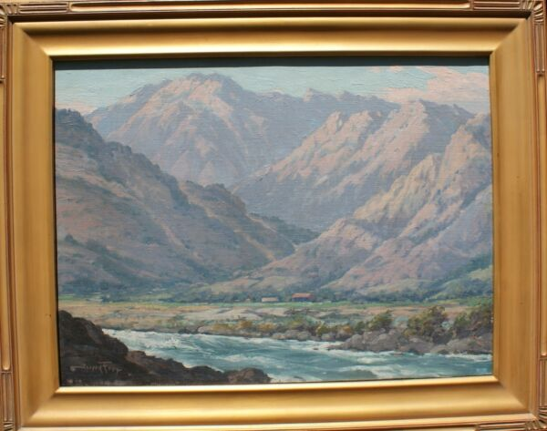 Joseph Frey Listed California Sgnd Painting Whitewater River San Bernardino Mtn