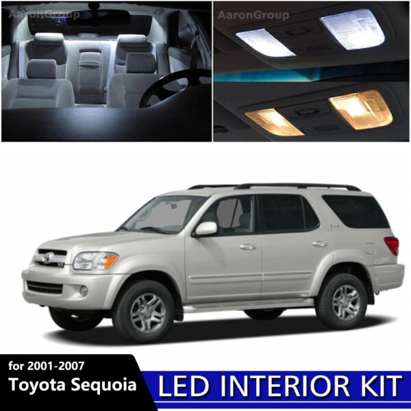 16PCS White Interior LED Light Package Kit For 2001 - 2007 Toyota Sequoia