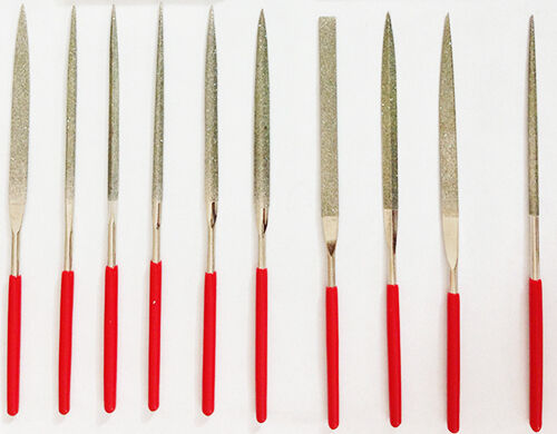 10 Quality Diamond Needle Files Jeweler Lapidary Tool 150 Grit