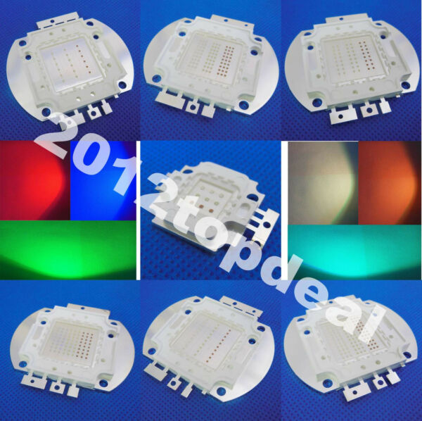10w 20w 30w 50w 70w 80w 100w RGB High power LED Chip F Aquarium $8.93