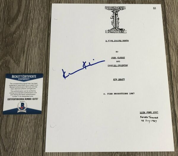 KEVIN KLINE SIGNED AUTOGRAPH A FISH CALLED WANDA 135 PAGE SCRIPT A wEXACT PROOF