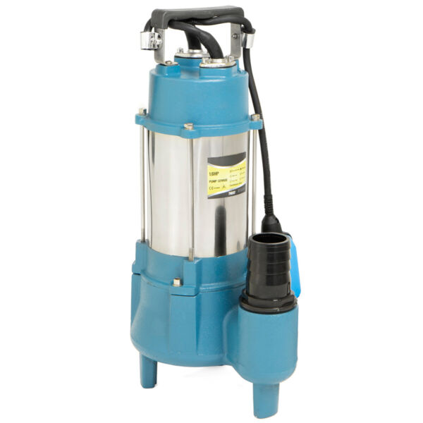 1.5HP Submersible Sewage Pump Sub Pump 7100 GPH Cast Iron Impeller with Handle $169.95