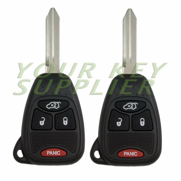 2 New Uncut Liberty Pacifica Remote Head Key Fob Transmitter Combo 4 Button
