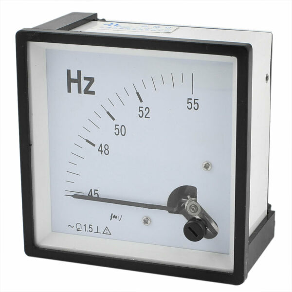 45-55Hz 100V Frequency Measurement Meter Square Panel Dial