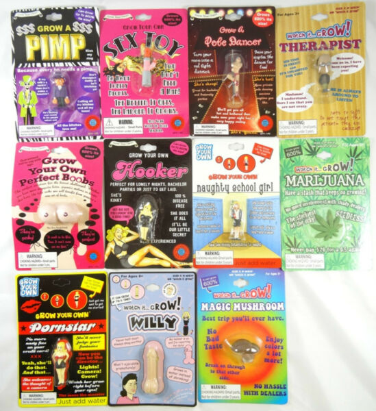 New Assorted Adult Theme Gag Gift Novelty Grow Toys Party Favor Buy 2 Get 1 Free