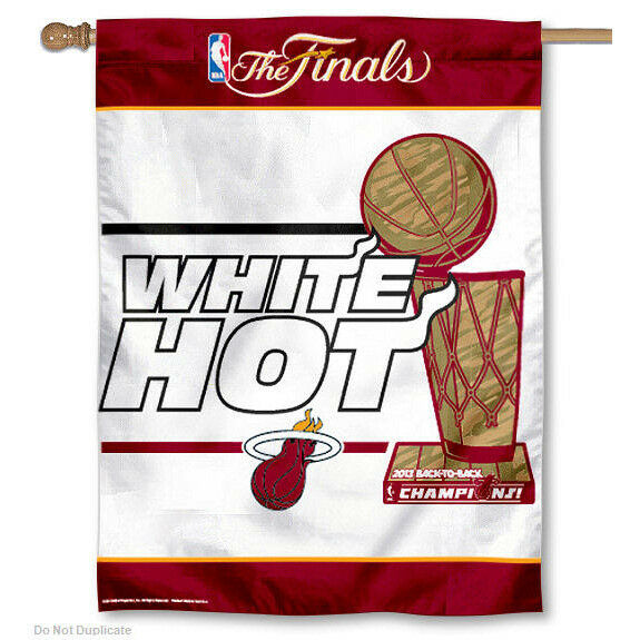 Miami Heat White Hot Champs House Flag $17.95