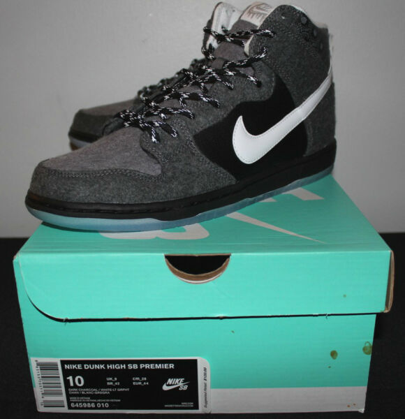 Nike Air Dunk PRM Premium High SB Petoskey Grey Black Sneakers Men's Size 10 New