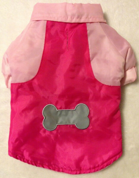 Pink Dog Snow Parka Coat with Reflective Bone XS or S Casual Canine NEW $9.99