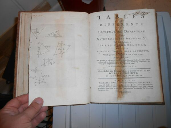 John Hood 1772 quot;Tables of difference of latitude and departure for navigators..quot;