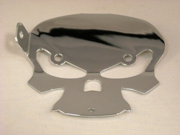 BQuazy Skull Motorcycle Bell Mount in Chrome 2009 to 2013 HD FL Touring Models $35.00