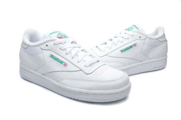 Reebok Men's Shoes Club C Classic Leather 182137 White Green