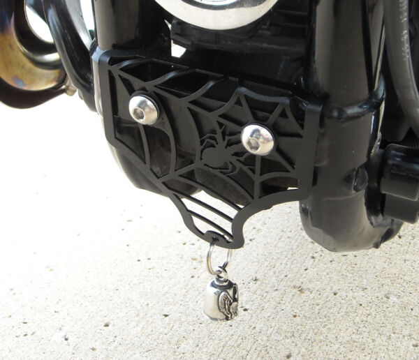 Spider Motorcycle Bell Mount in Texture Black for 2004 to 2021 Sportster Models $37.00