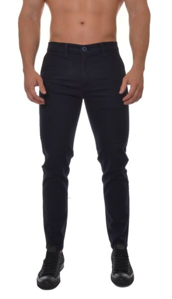 Mens Work Pants Uniform Chino with Pockets Trousers Slim Fit Casual Wear