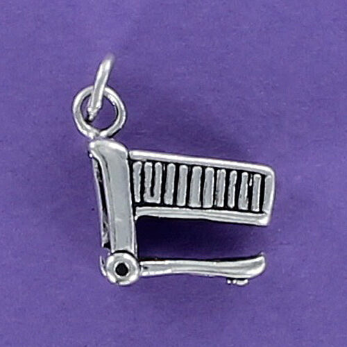 Shopping Cart Charm Sterling Silver 925 for Bracelet Grocery Store  Market Food