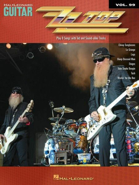 ZZ Top Sheet Music Guitar Play-Along Book and CD NEW 000700762